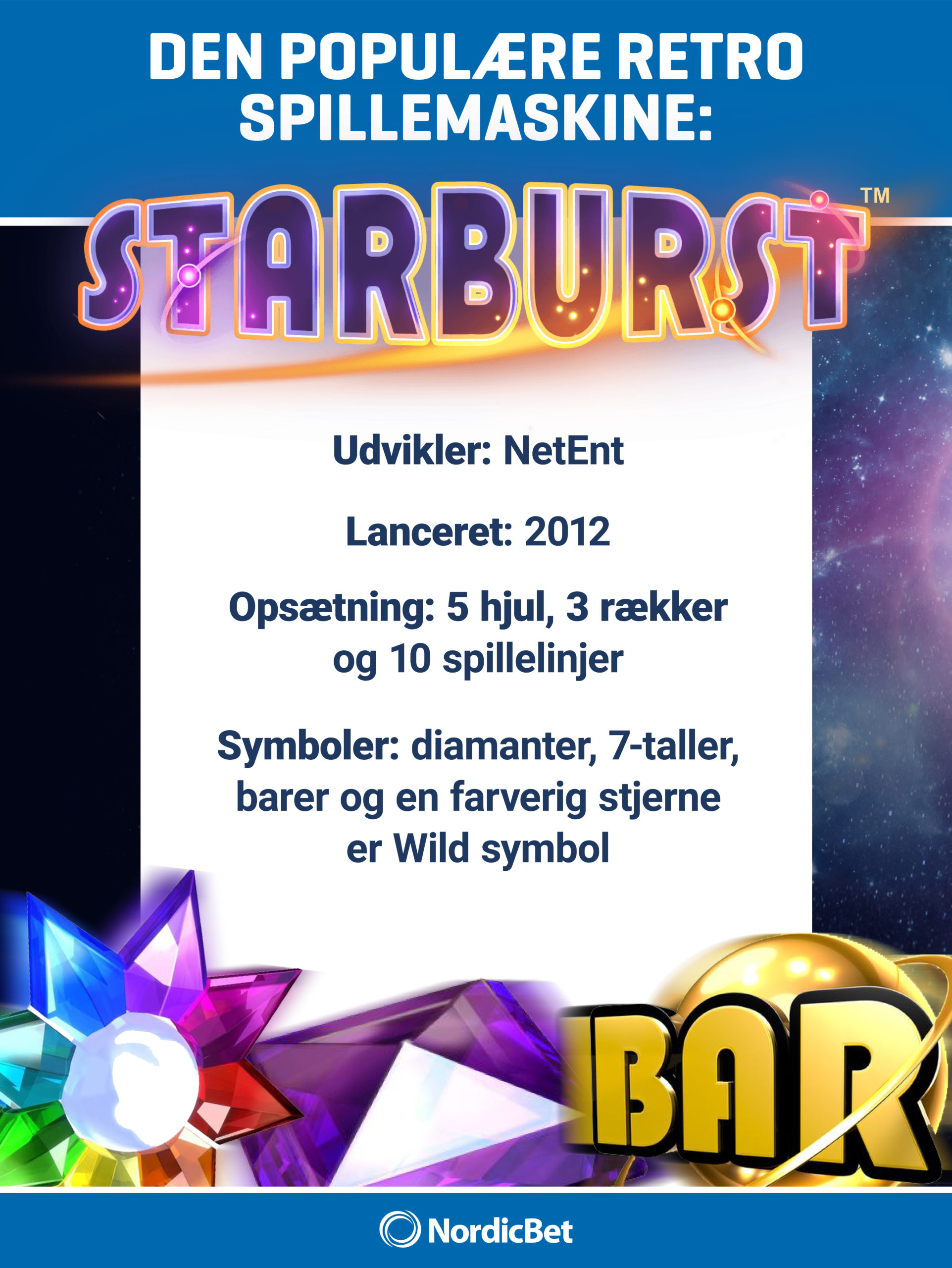 NordicBet Casino - spil Starburst hos os. NordicBet Casino guide.