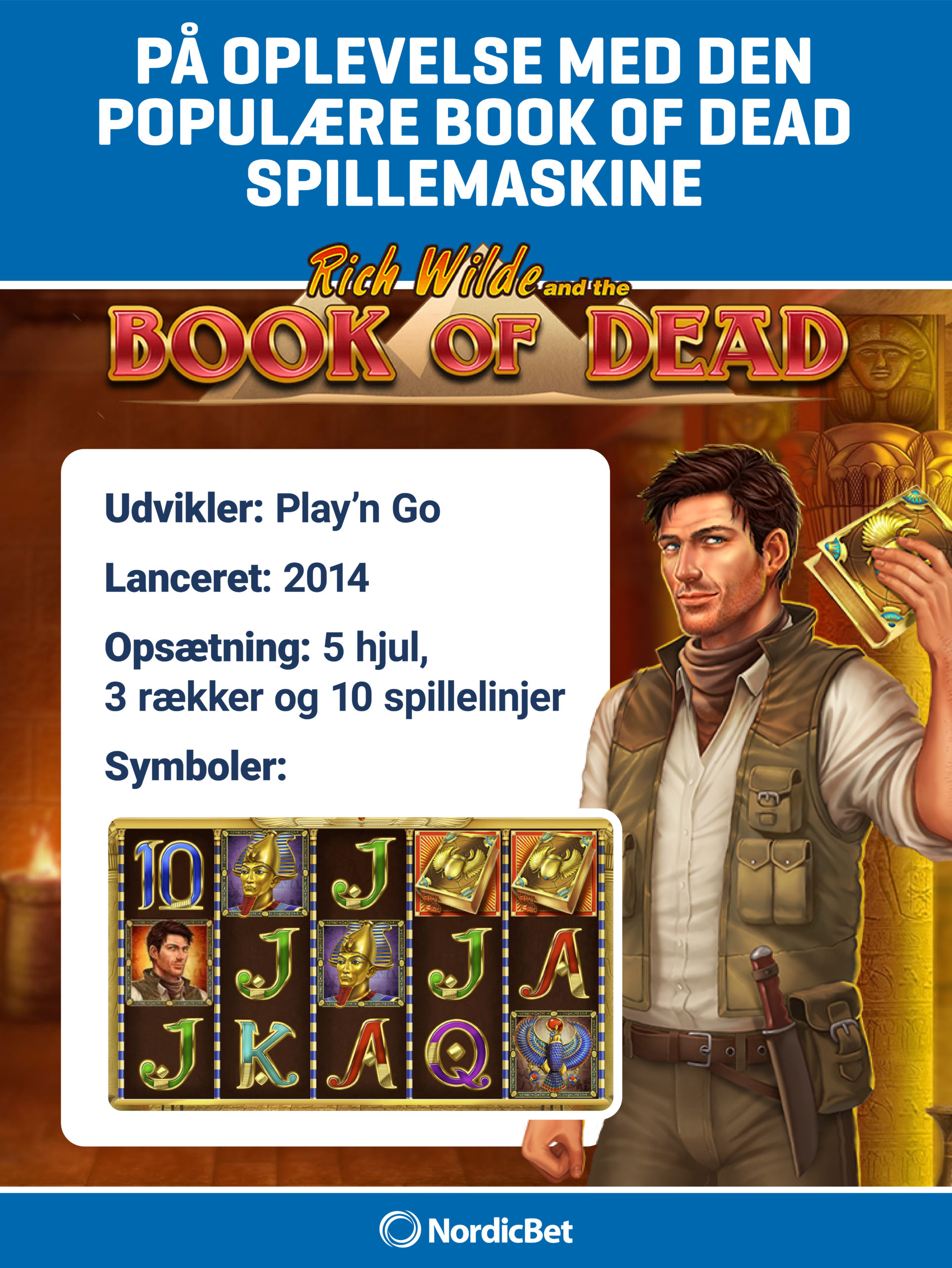 NordicBet Casino - spil Book of Dead hos os. NordicBet Casino guide.